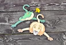 krokodýl a lev