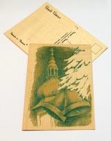 Kostel a zvony - zelená