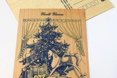 Koník u stromečku - modrá