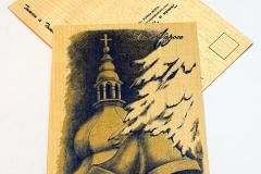 Kostel a zvony - modrá