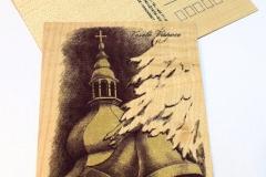 Kostel a zvony - tmavě-fialová
