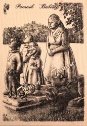 Pomník – Babička s dětmi
